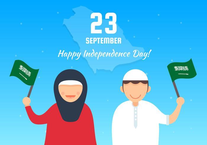 Vetores do dia nacional saudita única