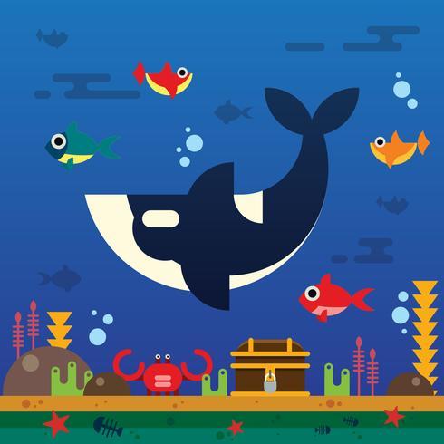 orche sotto il mare