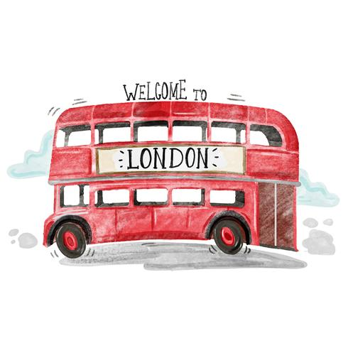 Cute Red London Bus