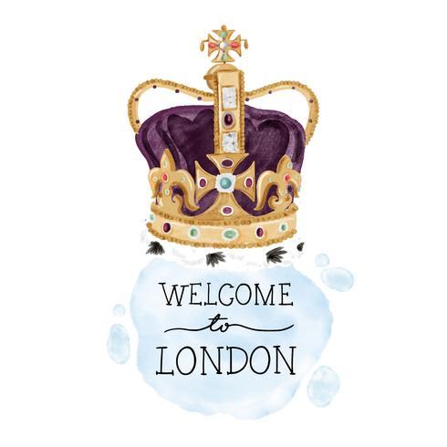 Coroa de monarquia de Londres bonito