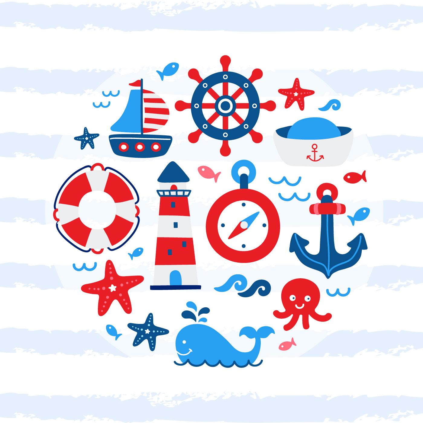 Nautical Baby Free Vector Art 41 Free Downloads