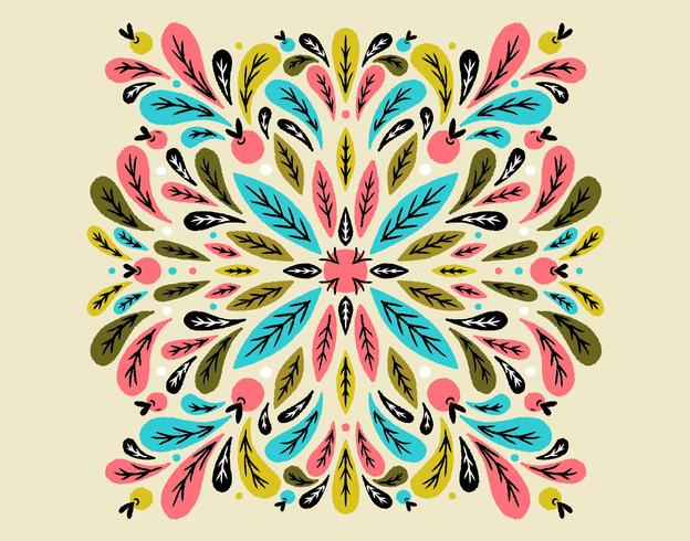 symmetrical leaves pattern vector