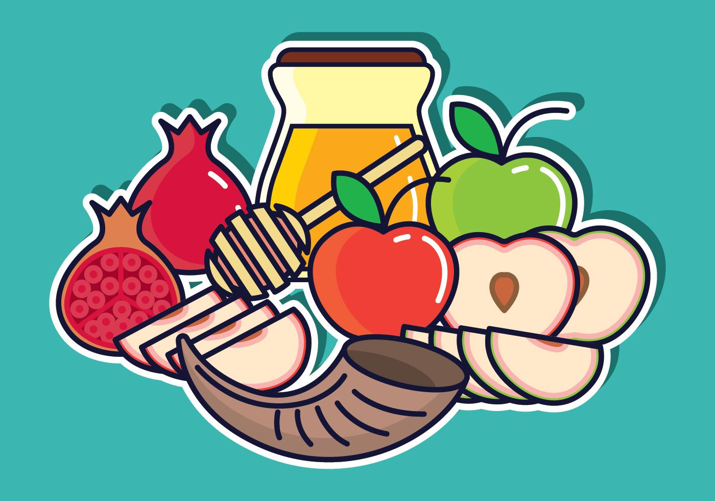 Rosh Hashanah Vector Illustration Download Free Vector Art Stock