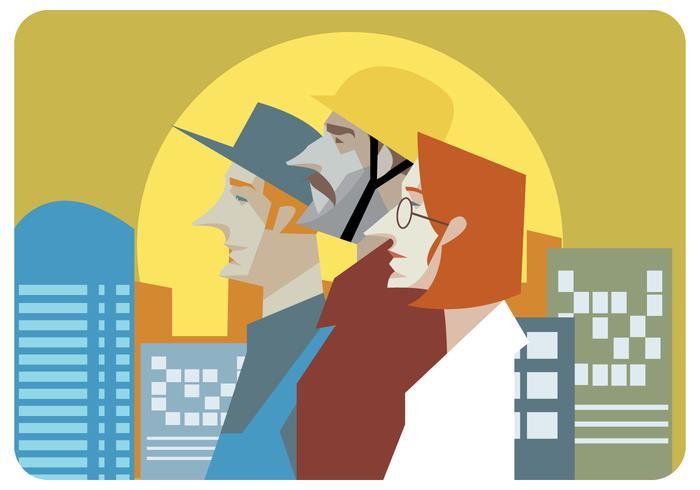 Vector de ilustración de los trabajadores