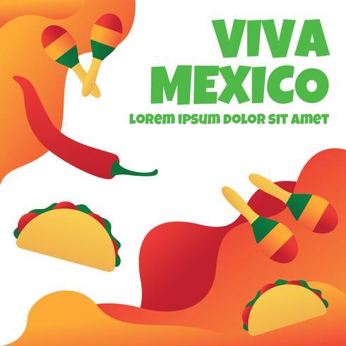 Ilustración de Viva Mexico