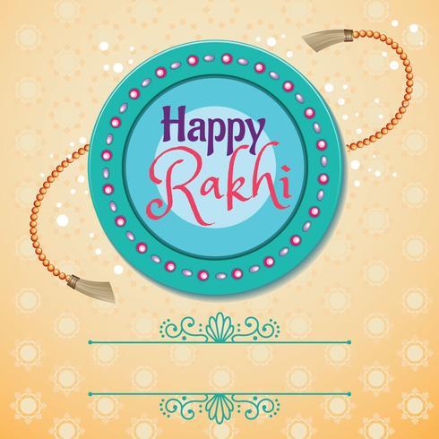 Lyckligt Rakhi Indiskt Holiday Card vektor