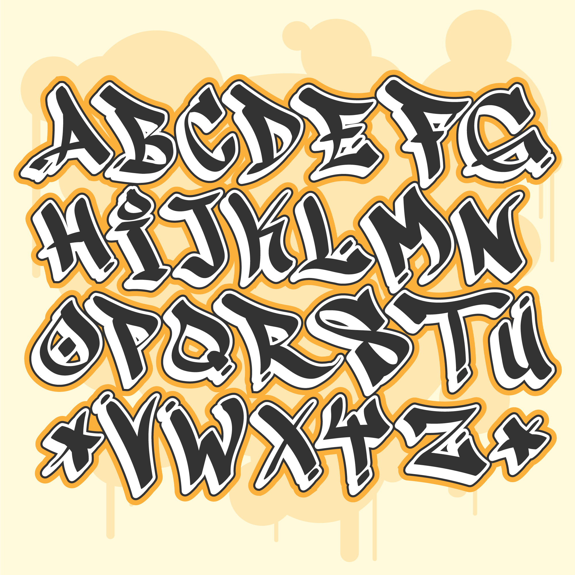 Graffiti Alphabet - Download Free Vector Art, Stock Graphics & Images