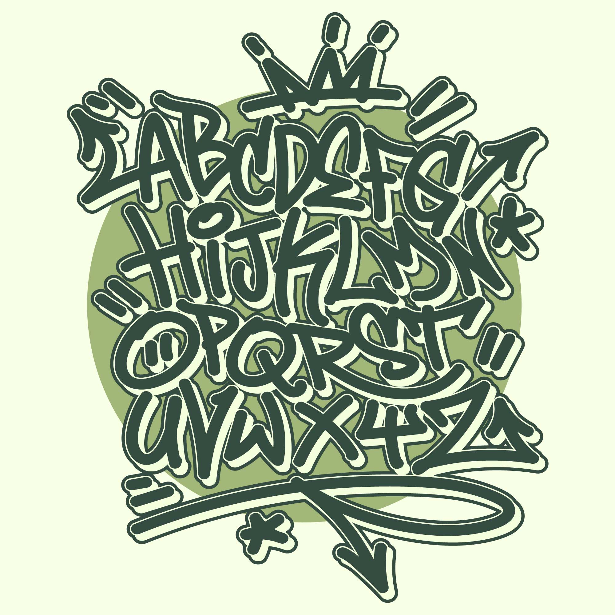 Graffiti alphabet download free vector art stock graphics images