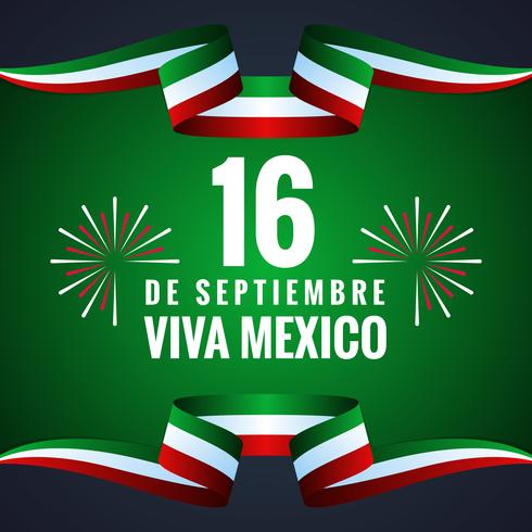 Mexico Happy Independence Day Greeting Card vector