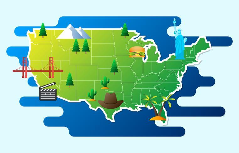 Toeristische Infographics over Amerika Infographic illustratie vector