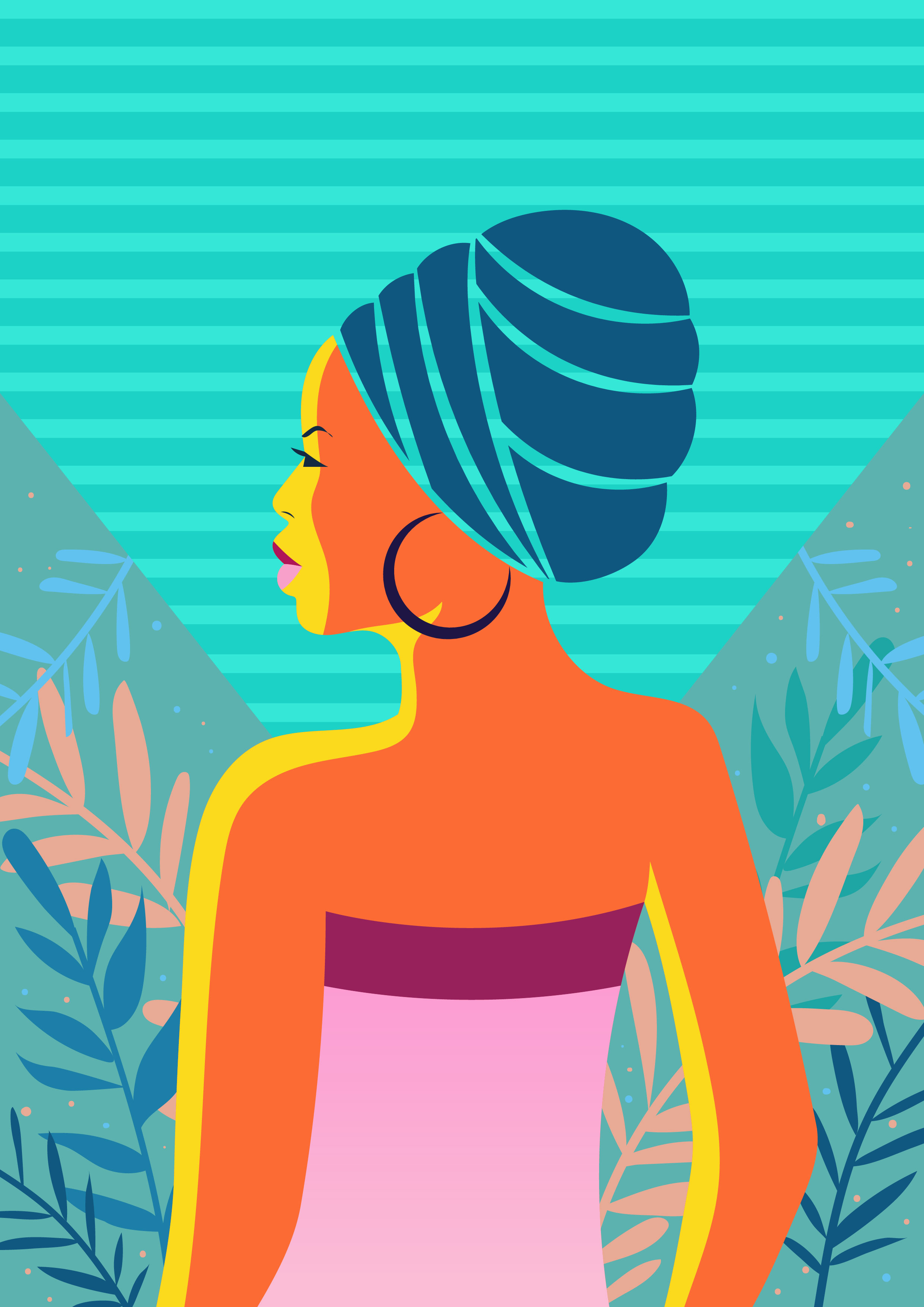 Women Of Color Illustration - Download Free Vector Art, Stock ...