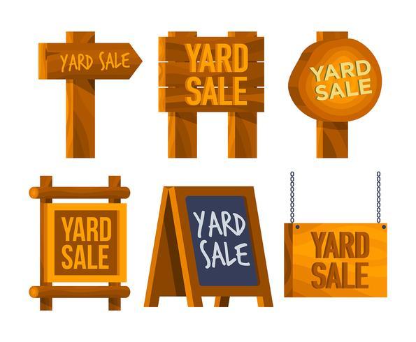 conjunto de vectores de signo de venta de yarda