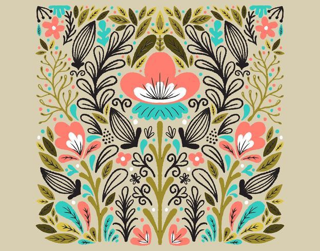 symmetriskt blommönster
