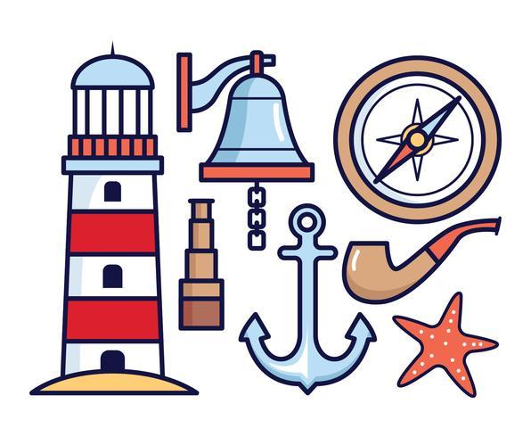 Éléments vectoriels nautiques