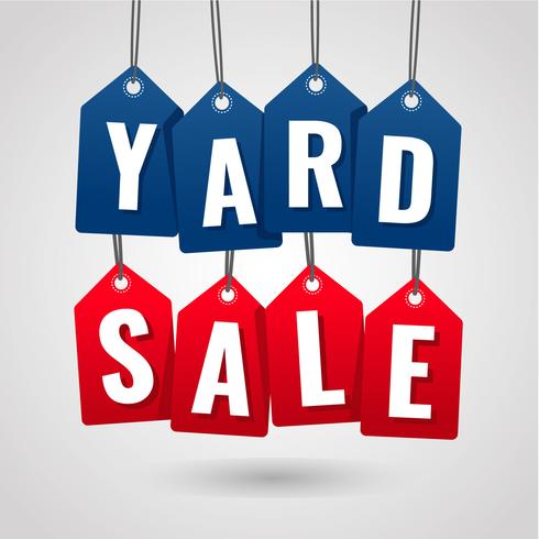 Yard Sale Hanging Tag Label