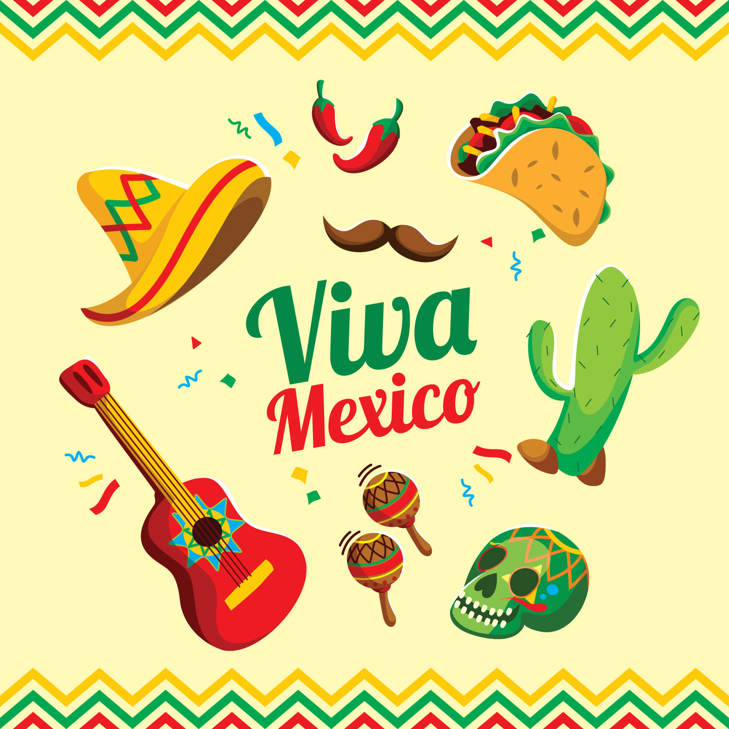 Viva Mexico Free Vector Art 809 Free Downloads