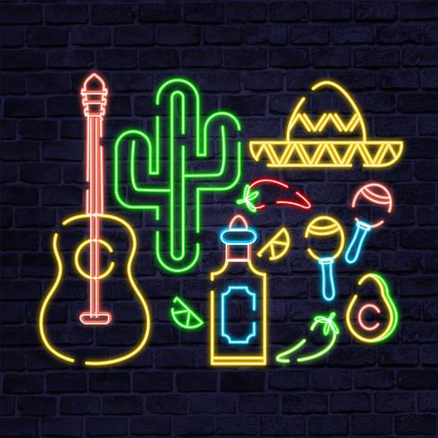 Vector México Neon Elements