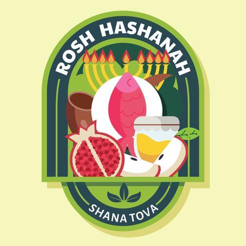 Diseño del vector de Rosh Hashaná