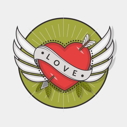 Vector del tatuaje del corazón
