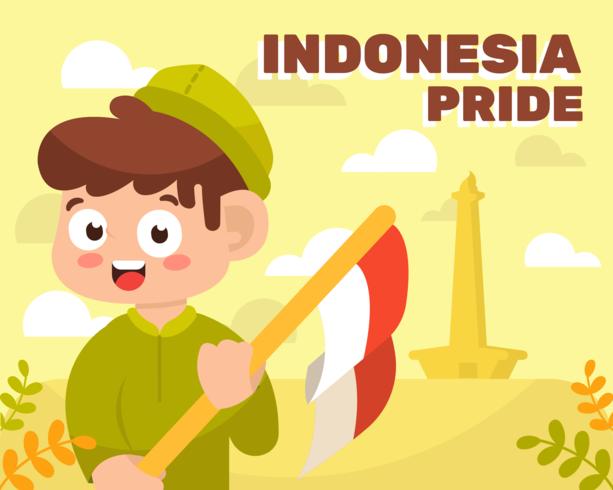 Vetor de orgulho da Indonésia