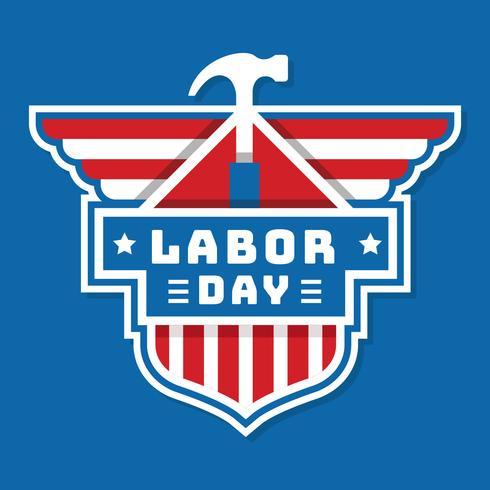 usa labor day badge