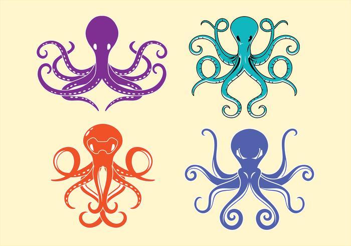 Pulpo y tentáculos simétricos