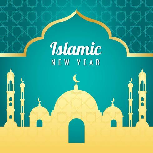 Vector de año nuevo islámico