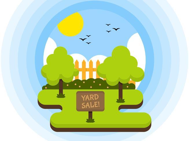 Vectores de signo de venta de yarda única