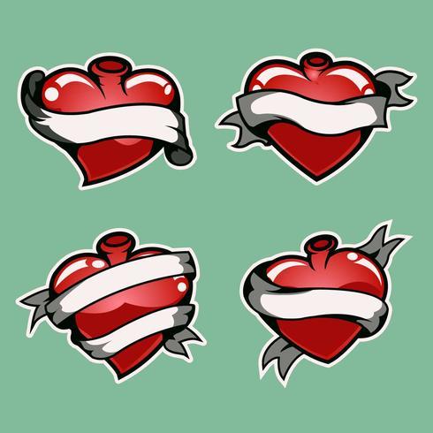 Heart tattoo 2 vector