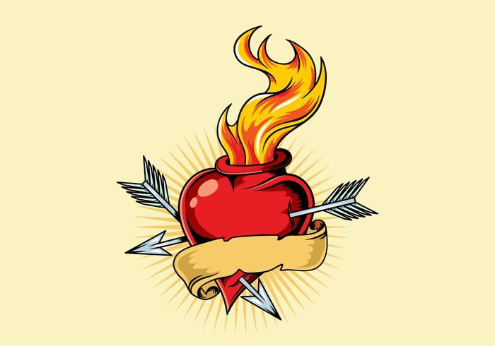 Ilustração de tatuagem de coração