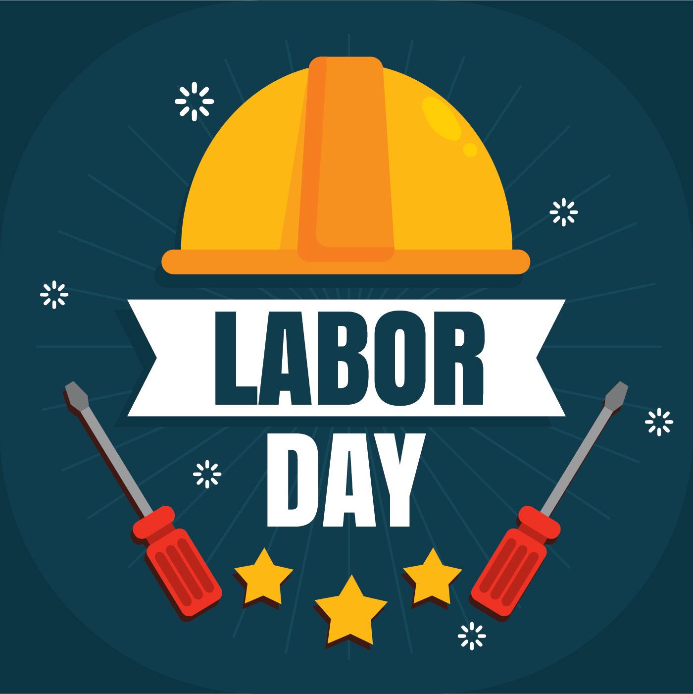 flat labor day vector