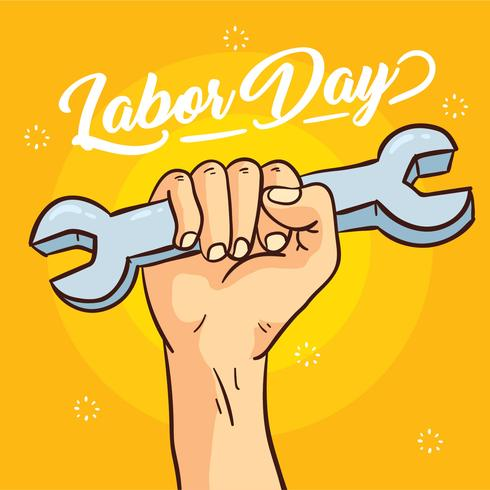 Glad Labour Day Vector