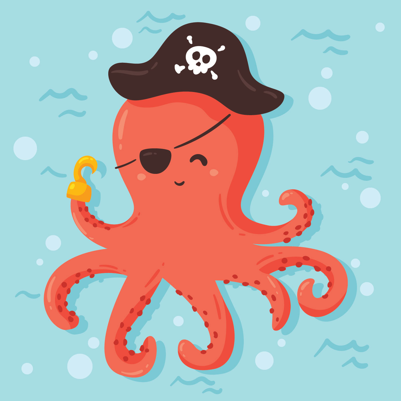 pirate octopus vector download free vectors clipart