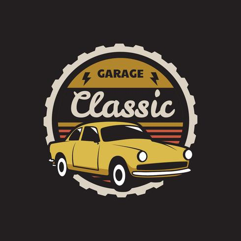 Insignia del coche clásico