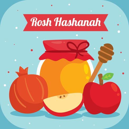 vector de elemento plano rosh hashaná