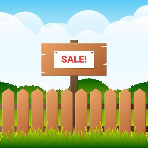 Ilustração de fundo de venda de garagem