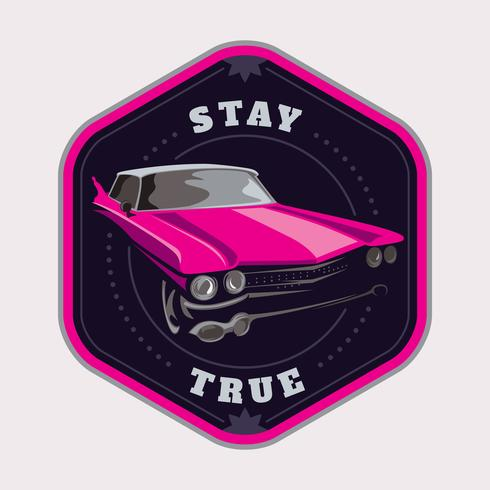 Car badge vector