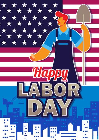 Labour Day Poster vektor