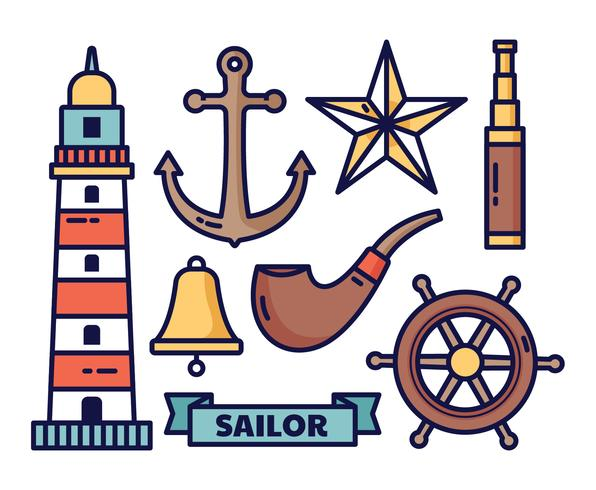 Nautical elements vector illustration