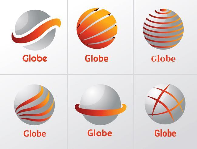 Globe Logo Design Pack de vecteur