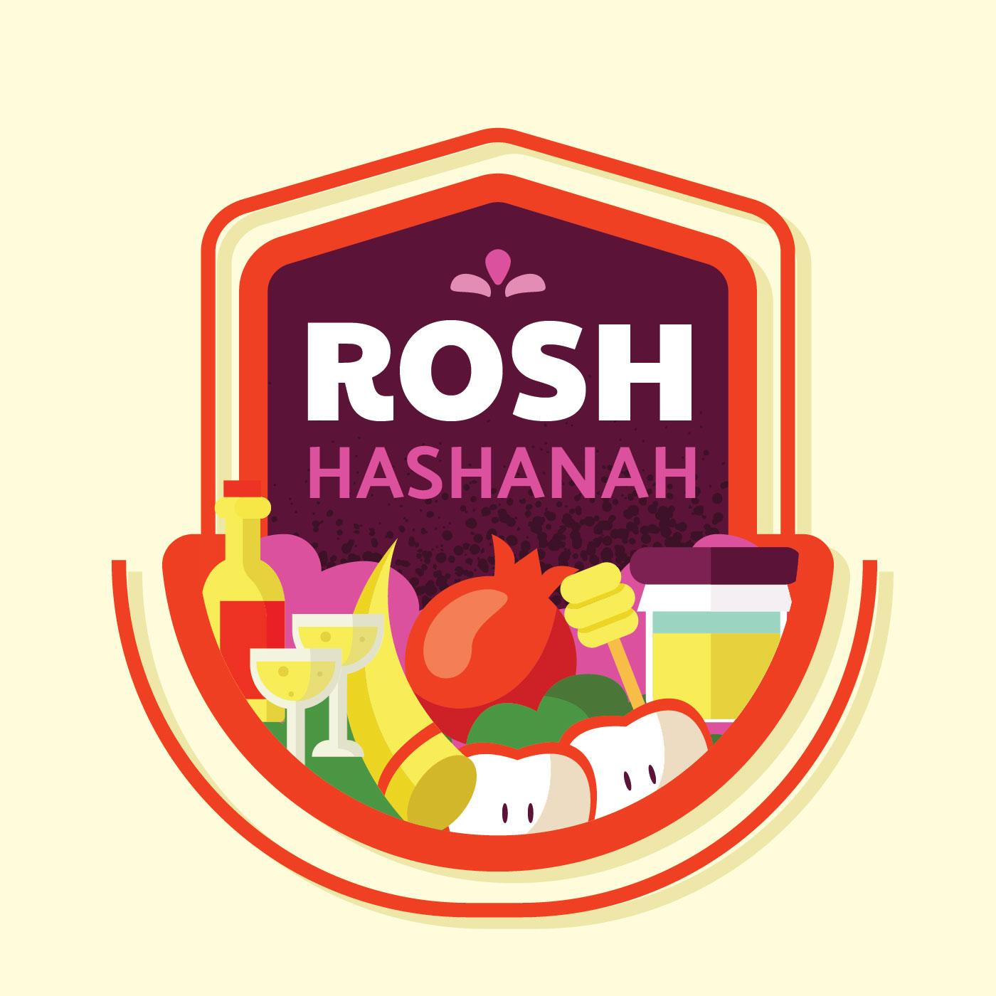 Rosh Hashanah Badge Vector Design - Download Free Vectors ...