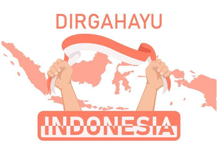 Ilustração em vetor Prid Indonésia