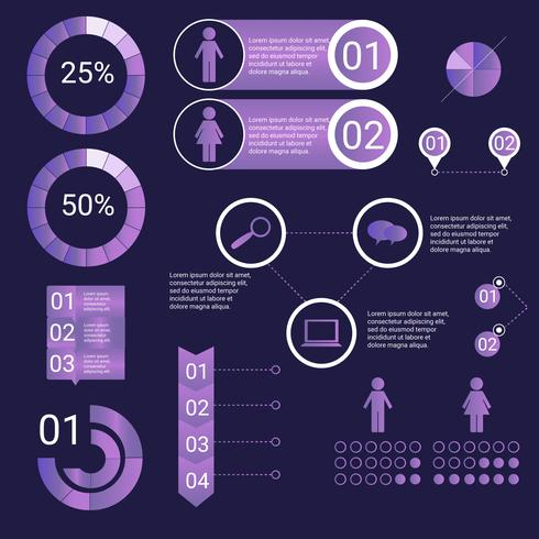 Ultraviolet Infographic Elements