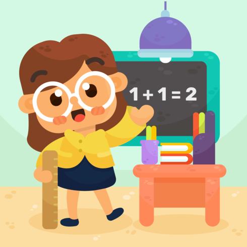 Vetor de professor de matemática