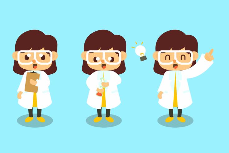Vetor de cientista fêmea