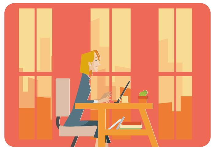 Bussineswoman in The Office Vector