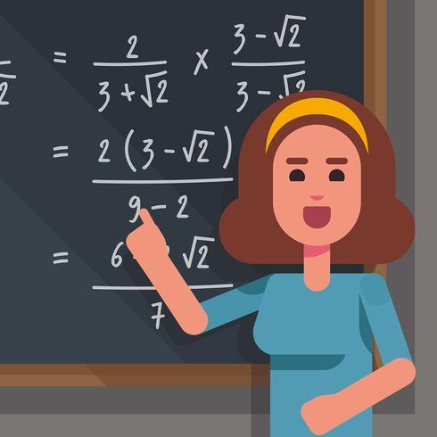 Ilustração de professor de matemática