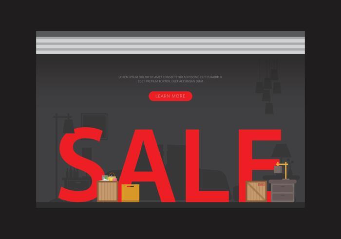 Venta de garaje o ilustración de venta de garaje