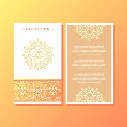Beauty Islamic Style Invitation Template Vector