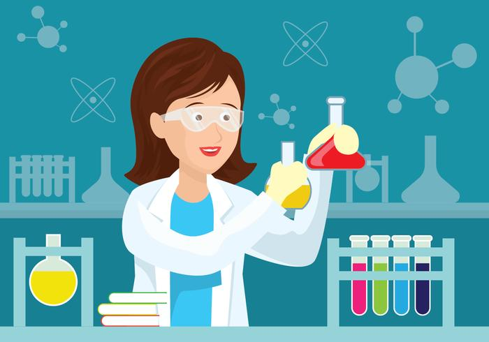 Femal Scientist Illustration vector
